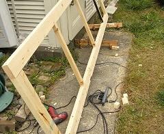 彼女部屋 天井収納作り 2