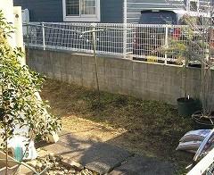 レンガ敷き お庭 3