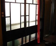 リビング ドア設置4