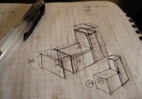 風除室 最終形態作業5 (L字の椅子)