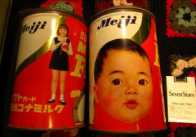 お譲りします(明治ミルク缶・2缶)