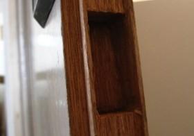 玄関のアンティーク扉設置7