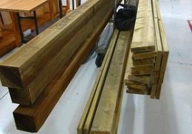 南側ウッドフェンス15 木材再入手