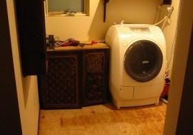 洗面スペースとりあえずの改装5