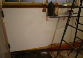 玄関改装本番7 壁塗装3