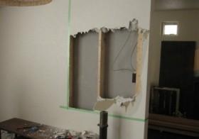 クローゼット廊下計画13 壁解体2