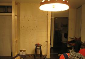 TV壁面作り3