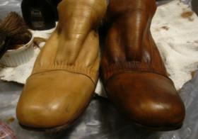 革靴の色リメイク