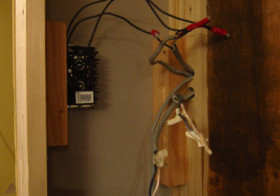 TV壁面作り6 配線2