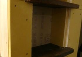 TV壁面作り20 ニッチ棚2