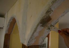 アーチの壁10 漆喰塗り2