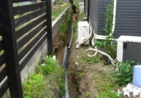西側の小道 排水計画8