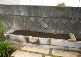 玄関アプローチ前の小庭4 菜園スペース1