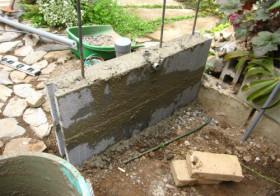 玄関アプローチ前の小庭16 手洗い場5