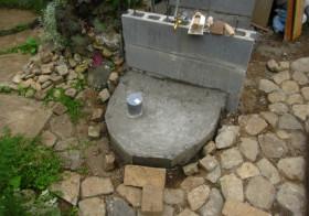 玄関アプローチ前の小庭18 手洗い場7
