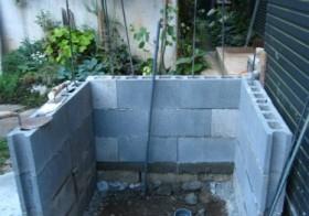 玄関アプローチ前の小庭20 手洗い場9