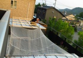 簡易屋根設置1