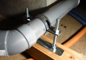 洗面所5 床下の配管移動4