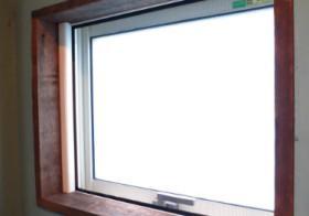 洗面所19 窓枠の設置