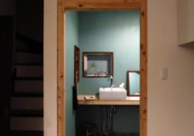 洗面所23 ドア設置2