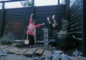 南側の庭8 水栓1