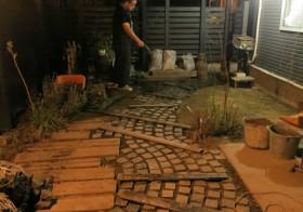 南側の庭12 水栓4とDIYの会2