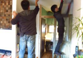 引き戸壁作り1