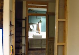 引き戸壁作り2